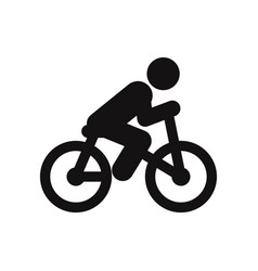 bicycle rider icon vector image