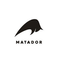 bison bull buffalo matador logo design vector image