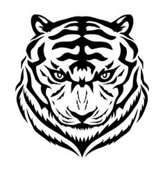black tiger sign vector image