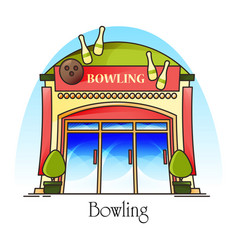 bowling club or house facade or front view vector image