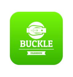 Buckle garment icon green vector