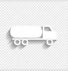 Car transports sign white icon with soft vector