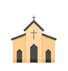 chapel icon flat style vector image