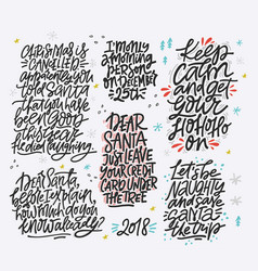 Christmas lettering design vector