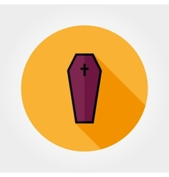 Coffin icon Halloween vector image