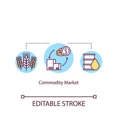Commodity market concept icon manufactured goods vector
