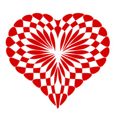 concept heart icon simple style vector image