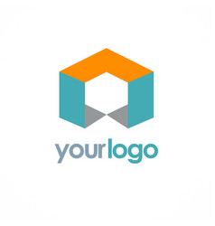 cube business logo vector image