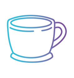 cup of coffee with handle gradient color vector image