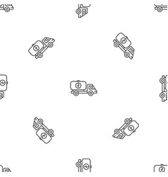 eco energy truck pattern seamless vector image