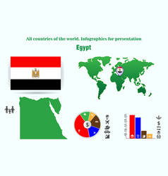 Egypt all countries of the world infographics vector
