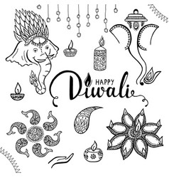 Elegant card design traditional indian festival vector