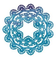 Elegant lacy watercolor doily Crochet mandala vector image