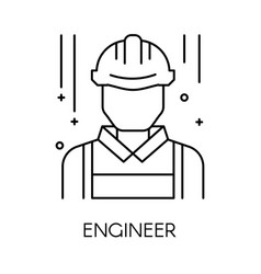 engineer or technical service isolated outline vector image