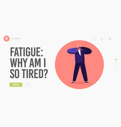 exhaustion and frustration landing page template vector image