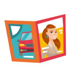 Fashion magazine cartoon vector