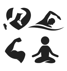 Fitness elements and logos vector