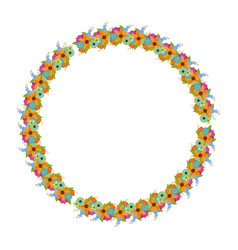 floral wreath flowers decoration vector image