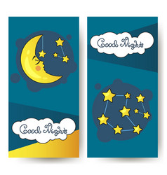 flyer good nighth and big moon vector image