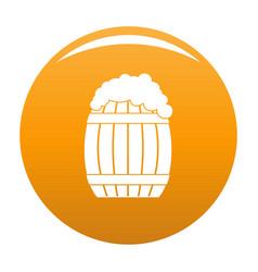 full barrel icon orange vector image