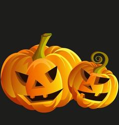 Funny Halloween pumpkins vector image
