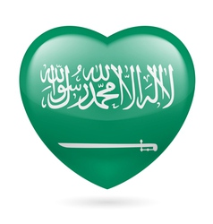 Heart icon of Saudi Arabia vector image