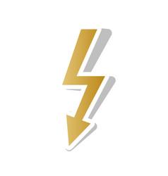High voltage danger sign golden gradient vector