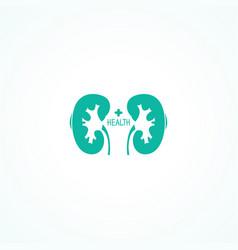 Human kidneys symbol vector