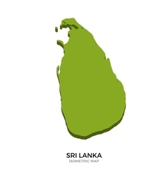Isometric map of Sri Lanka detailed vector image