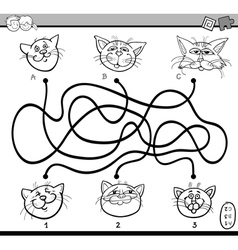 Maze puzzle task for coloring vector