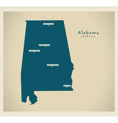 Modern Map USA Alabama vector image