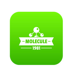molecule physics icon green vector image