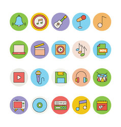 Music Colored Icons 4 vector