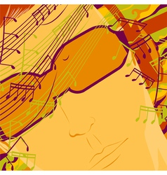 music on headphones vector image