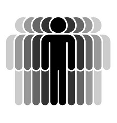 Nine human sign people symbol vector