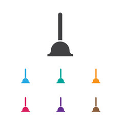 of cleaning symbol on plunger vector image