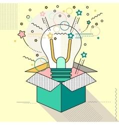 outside the box lamp vector image