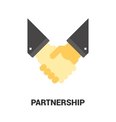 Partnership icon concept vector