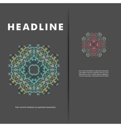 pattern beautiful pattern on printed vector image