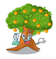 Professor orange tree in character shape vector
