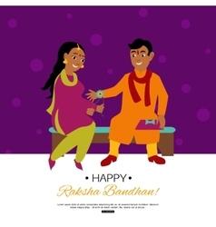 Raksha Bandhan Indian traditional holiday poster vector
