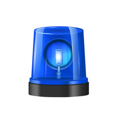 realistic detailed 3d police beacon vector image