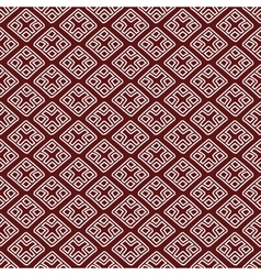 red ethnic russian seamless pattern pr vector image