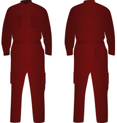 Red repairman uniform vector