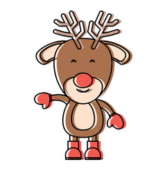 rudolph deer icon vector image
