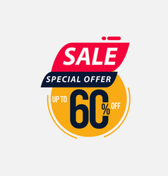 Sale special offer up to 60 off limited time only vector