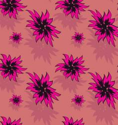seamless background with red flowers vector image