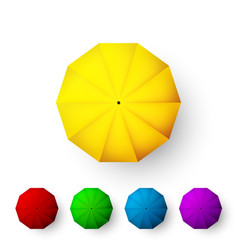 set color umbrellas top view open parasol vector image