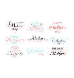 set nine beautiful mothers vector image