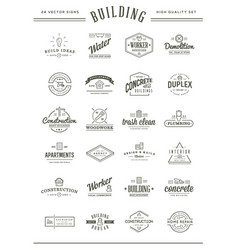 set of construction building icons home and vector image